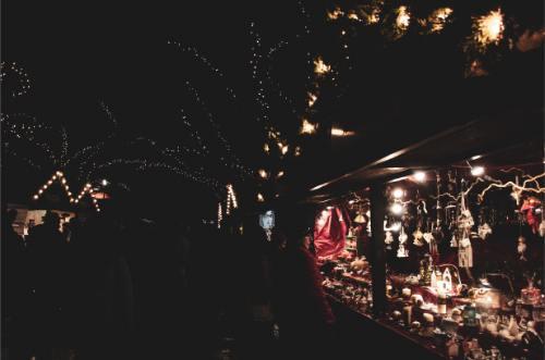 Christmas ornament hut at Chemnitz Christmas Market, Germany