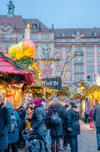 Christmas market stalls in Dresden, Germany
