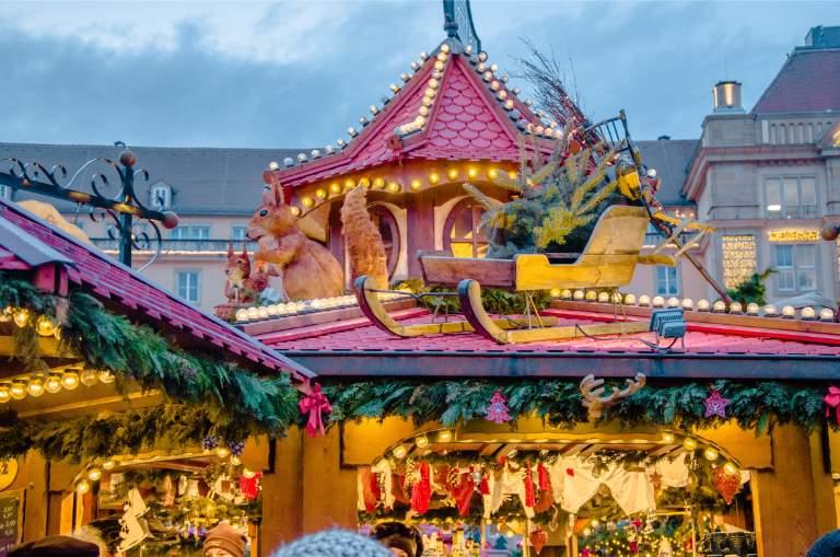 food stalls at Dresden's Christmas market