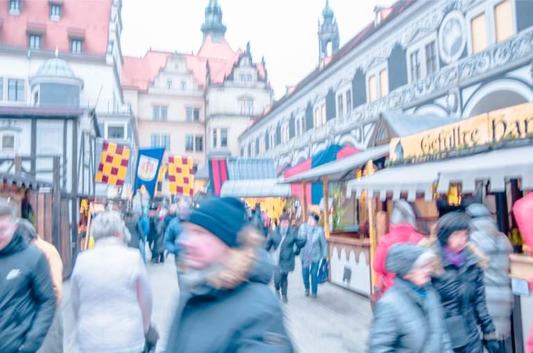 Medieval Christmas market in Dresden