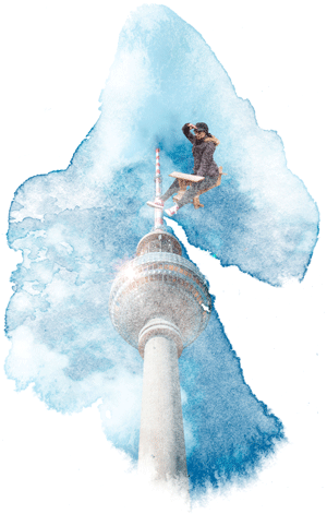 Germany on the Brain flying Berlin Tower image