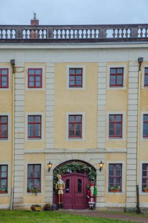 Gotha Palace entrance at Christmas time