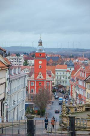 view over Gotha's historic center