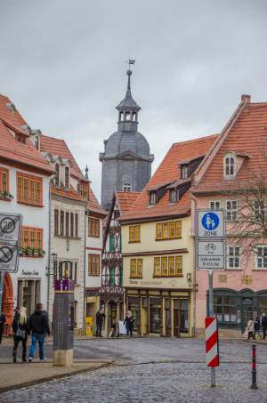 Gotha's historic town center, Germany