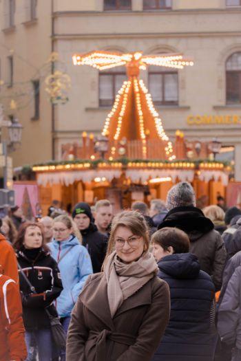 Annemarie Strehl at Meissen Christmas market