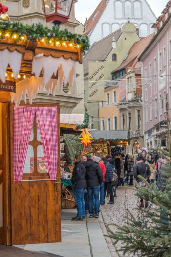 Christmas market huts in Meissen, Saxony