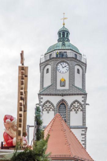 Meissen Frauenkirche during the Christmas market