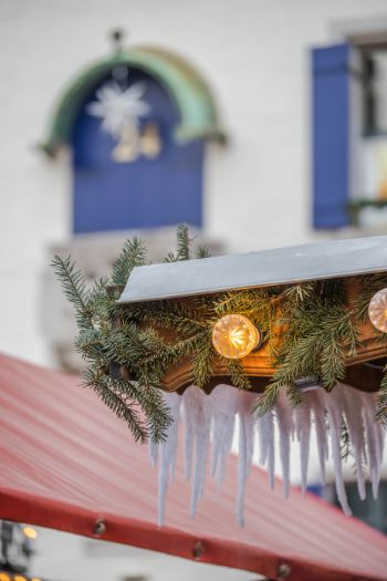 icicle hut ornament at Meissen Christmas market