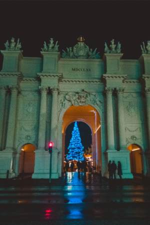 Brandburger Tor at Potsdam Christmas market