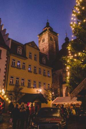 town hall at Schmalkalden Christmas Market in Germany