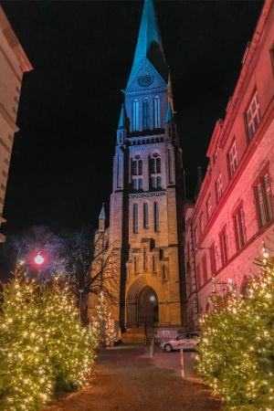 Schwerin cathedral at Christmas