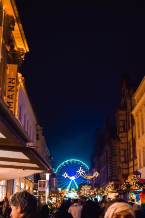ferris wheel at Schwerin Christmas market
