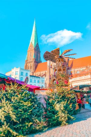 Christmas market in Schwerin, Germany