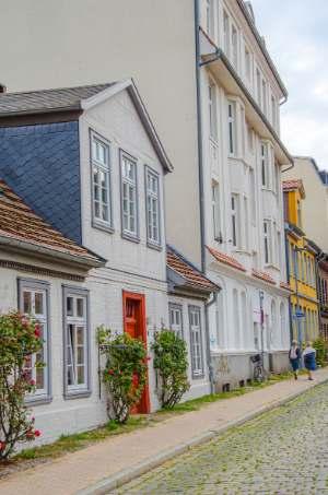 Schweinemarkt street in Schwerin, Germany