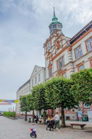 former post office building in Schwerin, Germany