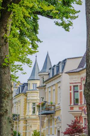 old city houses in Schwerin, Germany