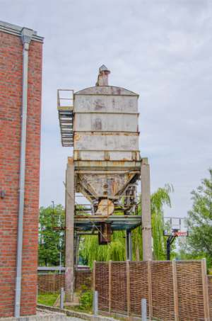 old Silo at former harbour in Schwerin, Germany