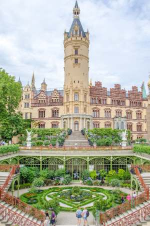 Schwerin Castle with orangery