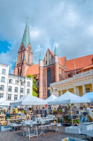 Schwerin marketplace and town hall, Germany