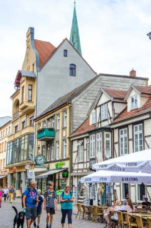 market square in Schwerin, Germany