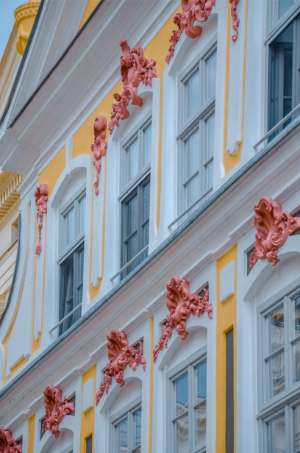 baroque house facade in Schwerin, Germany