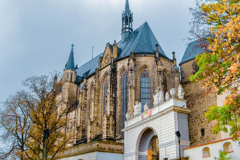 Altenburg Cathedral and Castle seen from below