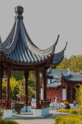 pavilion in the Chinese Garden of Weissensee Germany