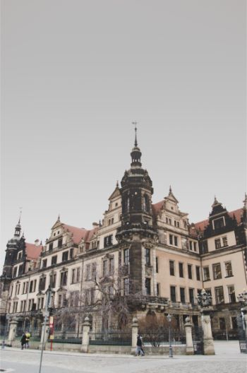 Dresden Castle on a cloudy day
