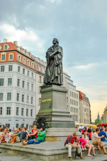 Luther statue in Dresden