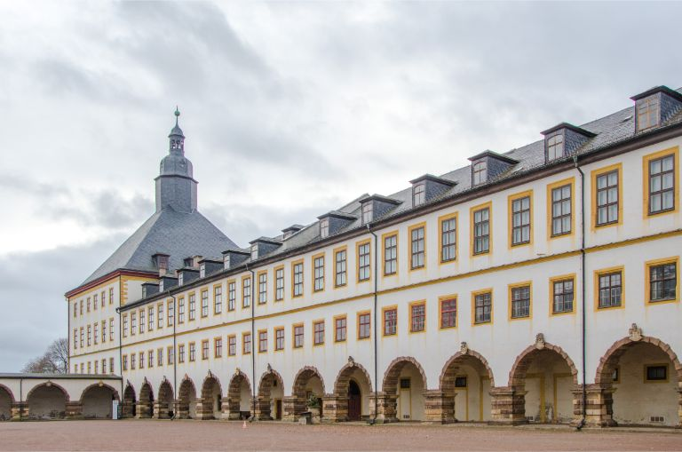 inner yard of Gotha's Friedensburg Castle