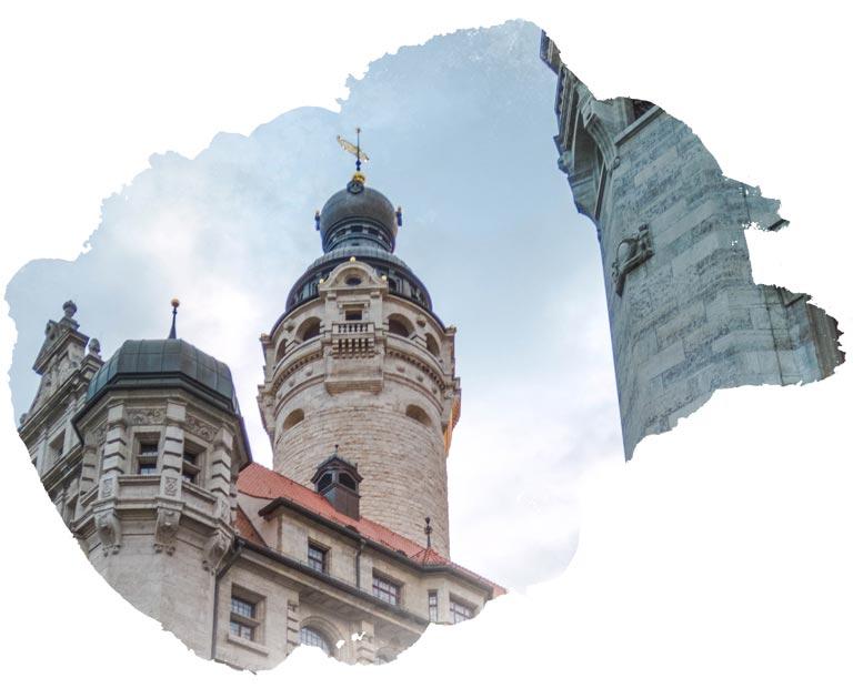 Leipzig German in water color frame