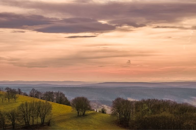 view from Leuchtenburg Castle, Germany