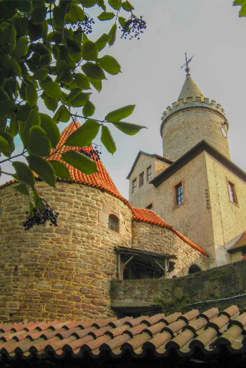 walls and tower of Leuchtenburg Castle, Germany