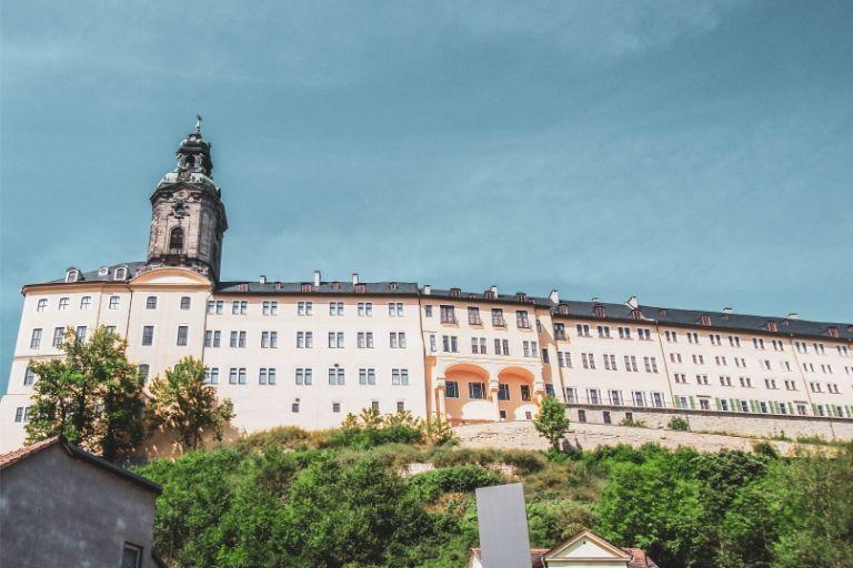 Heidecksburg Castle seen from Rudolstadt center