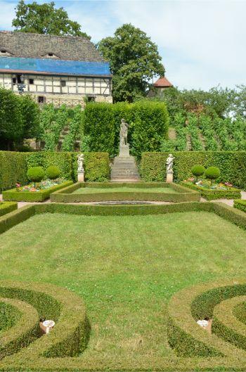 baroque garden at Dornburg Castle in Germany