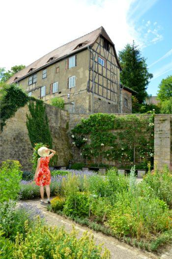 in the gardens of Old Castle at Dornburg Castle in Germany