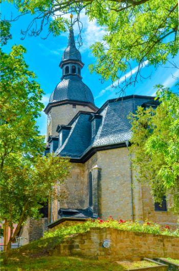 Dornburg Church near Castles of Dornburg, Germany