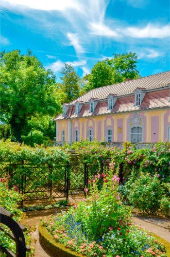 fancy garden house at Dornburg Castle, Germany