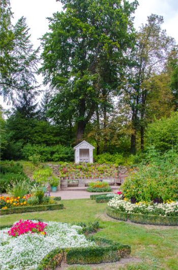 flower gardens at Castle Kochberg in Germany