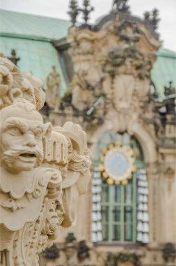 statue detail at the Zwinger in Dresden