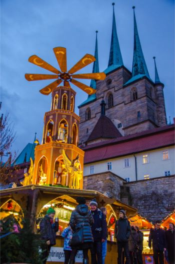 Christmas pyramid at Erfurt's main square