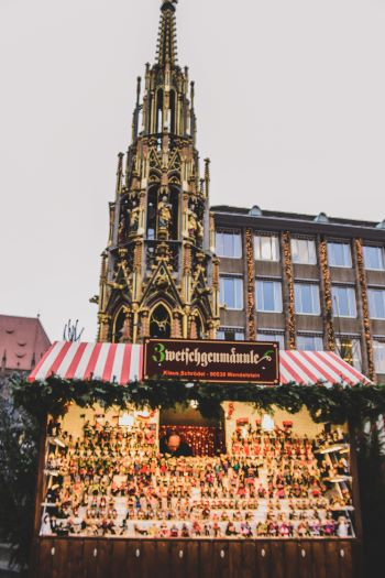 Nürnberg Christmas Market with candle stand