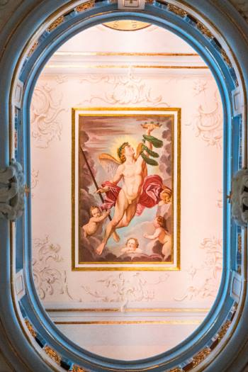 painted ceiling in the Anna Amalia Library, Weimar, Germany