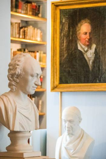 bust and portrait of Goethe at the Anna Amalia Library, Weimar, Germany