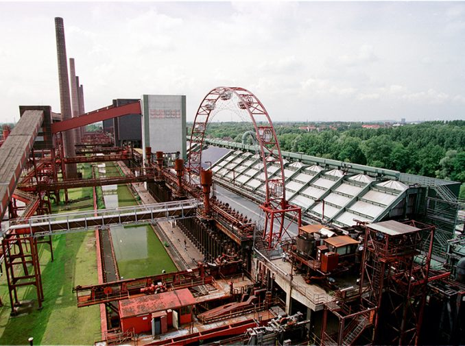 Cokery Zollverein in Essen, Germany, seen from above