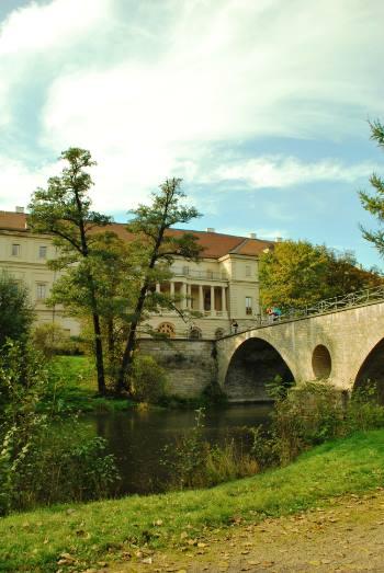 bridge to Weimar castle, Germany