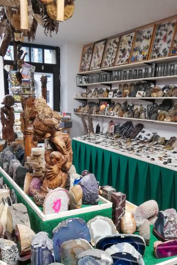 gems from around the world in a shop in Weimar, Germany