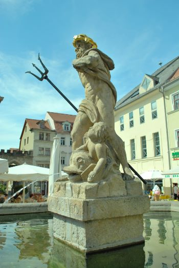 Water fountain in Weimar, Germany